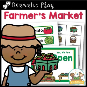 Dramatic Play Garden and Farm Stand for Pre-K and Kindergarten