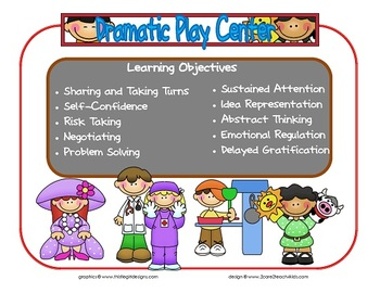 Dramatic Play Learning Center Sign~ With Objectives