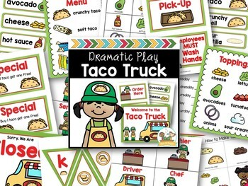 Dramatic Play Mexican Restaurant Printables for Pre-K and Kindergarten