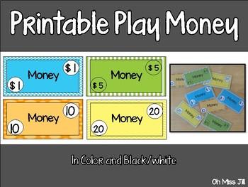 Dramatic Play Money