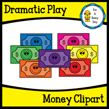 Dramatic Play Money Clipart Freebie by For A Rainy Day | TpT (350 x 350 Pixel)