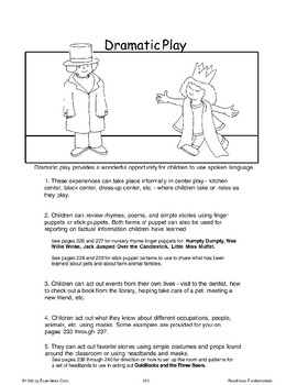 Dramatic Play (Oral Language Skills)