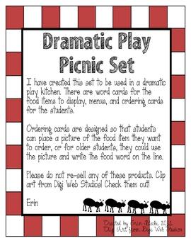 Dramatic Play Picnic Set