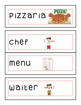 Dramatic Play Pizza Parlour