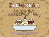 Dramatic Play Props {Ice Cream Shop}