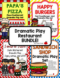Dramatic Play Restaraunt Bundle! 4 Different Restaurants!!