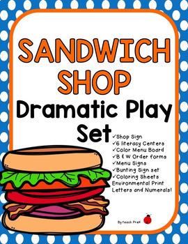 Dramatic Play Restaraunt Bundle! 4 Different Restaurants!!