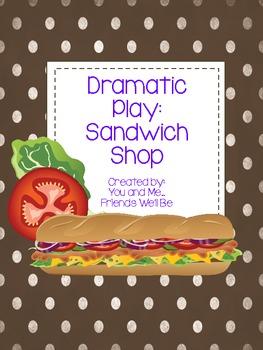 Dramatic Play Sandwich Shop Literacy Center