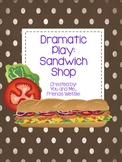 Dramatic Play Sandwich Shop Literacy Center