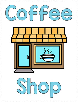 Dramatic Play Set - Coffee Shop