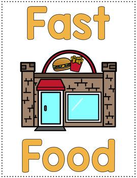 Dramatic Play Set - Fast Food Restaurant