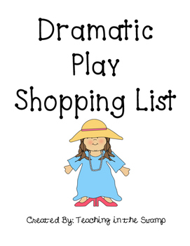 Dramatic Play Shopping List Freebie
