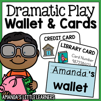 Dramatic Play Wallet and Cards