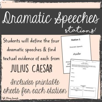 Dramatic Speeches Stations - Julius Caesar