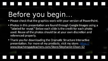 Dramatic Structure Interactive PowerPoint