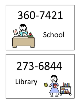 """Dramatic play """"phone book"""" for use in preschool or kindergarten"""