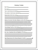Dramaturgy and Play Research Worksheet