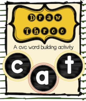 Draw Three CVC Word Game