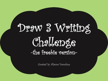 Draw 3 Writing Challenge Freebie