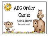 ABC Order Game - Animal Theme