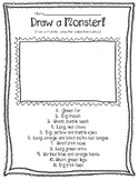 Draw A Monster - Adjectives - FREEBIE