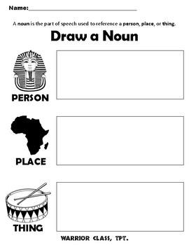 Draw A Noun Worksheet