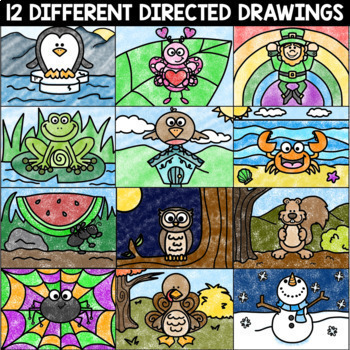 Directed Drawing and Writing | Includes Halloween Directed Drawing and MORE