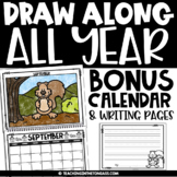 Penguin Directed Drawing Slides Editable Calendar 2021