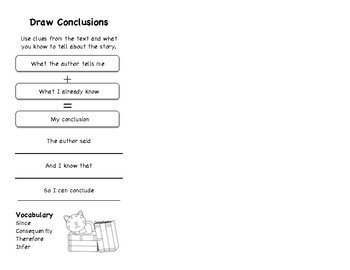 Draw Conclusions Bookmark