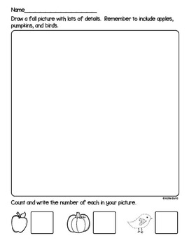Draw, Count, Write! -  Creative Math and Literacy Activity