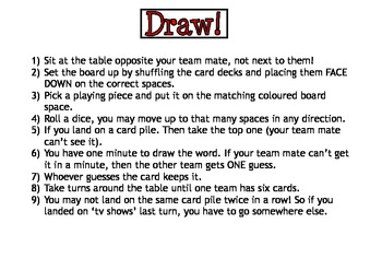 Draw! Customiseable Board Game
