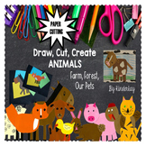 Draw, Cut, Create PETS, FARM, FOREST - Paper Cutting