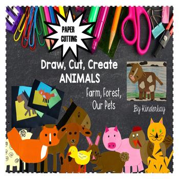 Draw, Cut, Create PETS, FARM, FOREST - Paper Cutting