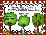 Draw, Cut, Create FOREST ANIMALS Literacy Habitat  Pack