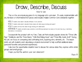 Draw, Describe, Discuss!