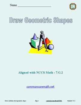 Draw Geometric Figures - 7.G.2