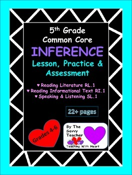 Draw Inferences Common Core Lesson, Practice, and Assessment
