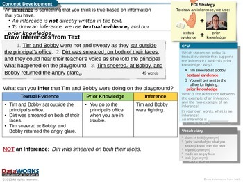 Draw Inferences from Text