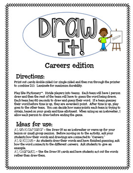 Draw It! Careers Edition Game