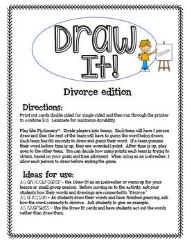 Draw It! Divorce Edition Game