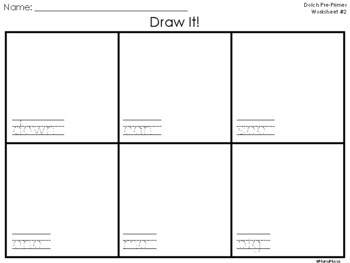 Draw It! Dolch Worksheets --Pre-Primer through 3rd Grade
