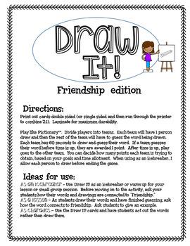 Draw It! Friendship Edition Game