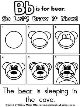 Draw It Now Bundle: Literacy Centers ABCs & Blends, Digraphs, & Diphthongs