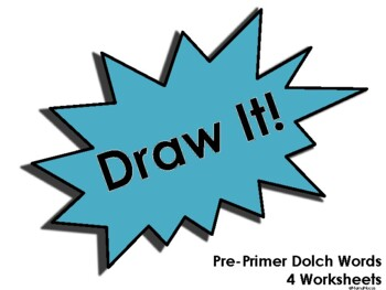 Draw It! Pre-Primer Dolch Worksheet