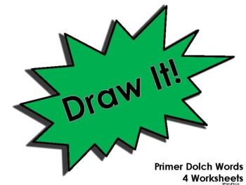 Draw It! Primer Dolch Words Worksheet