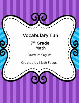 Draw It!  Say It!  7th Math Vocabulary Review Game