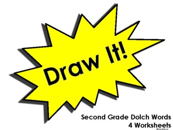 Draw It! Second Grade Dolch Words Worksheets