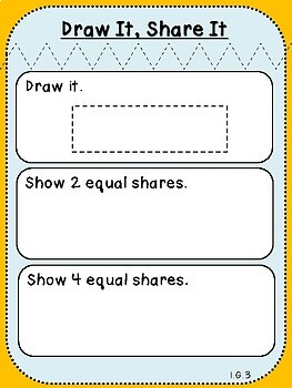 Draw It, Share It Mat ***FREEBIE*** (First Grade, 1.G.3)