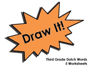 Draw It! Third Grade Dolch Word Worksheets