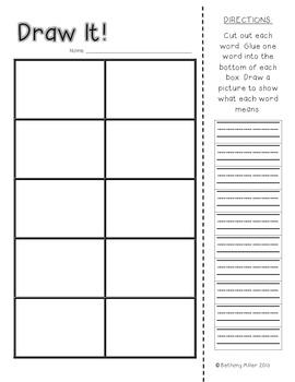Draw It! Vocabulary FREEBIE